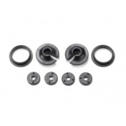 Traxxas Spring retainers, upper & lower (2)/ piston head set (2-hole (2)/ 3-hole (2))