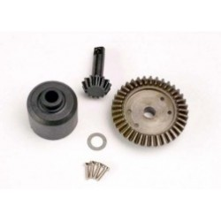 Traxxas Ring gear, 37-T/ 13-T pinion/ diff carrier/6x10x0.5mm