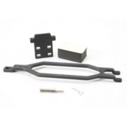 Traxxas Hold down, battery/ hold down retainer/ battery post/ foam spacer/ angled body clip