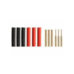 Yuki Gold connector • Ø0,8mm • 3 pairs