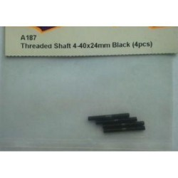 Hpi THREADED SHAFT 4-40x24mm BLACK (4pcs)
