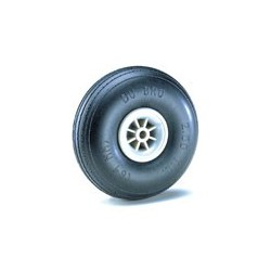 "Dubro 3-1/2"" Dia. Treaded Lightweight Wheel (2)"
