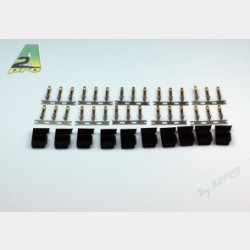 A2 pro Gold plated Futaba male connector (10 pcs)
