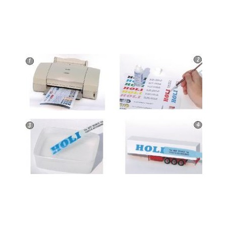 Holi HOD118 - DECAL FILM - CLEAR - A4 1SHEET FOR INKJET PRINTER