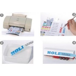 Holi HOD117 - DECAL FILM - WHITE - A4 1SHEET FOR INKJET PRINTER