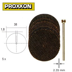 Proxxon Set of aluminium oxide cutting discs 38mm 5pcs.