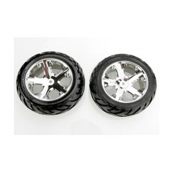 Traxxas Chrome All-Star Wheels & Anaconda Tires